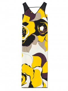 sisley long printed dress1