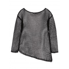 SISLEY uneven mesh sweater