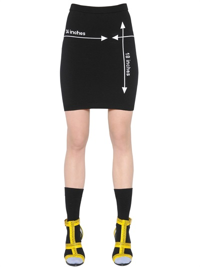 Moschino  Pre-Fall 2015/16 LUISAVIAROMA Gonna in maglia di lana