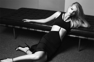 Dress by Cushnie et Ochs; sandals by Saint Laurent by Hedi Sliman
