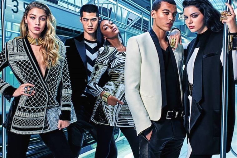 Balmin for H&M campaign http://www.vogue.it/magazine/notizie-del-giorno/2015/05/balmain-per-hm