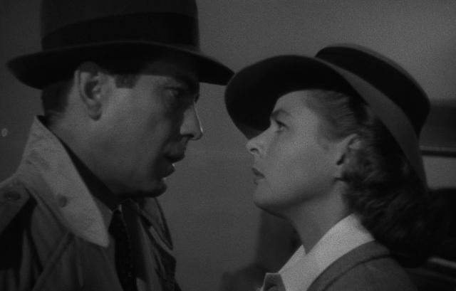 Humphrey Bogart ed ingrid Bergman in Casablanca