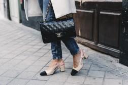 zara scarpe bicolore chanel mid heel shoes haul vita su marte 02