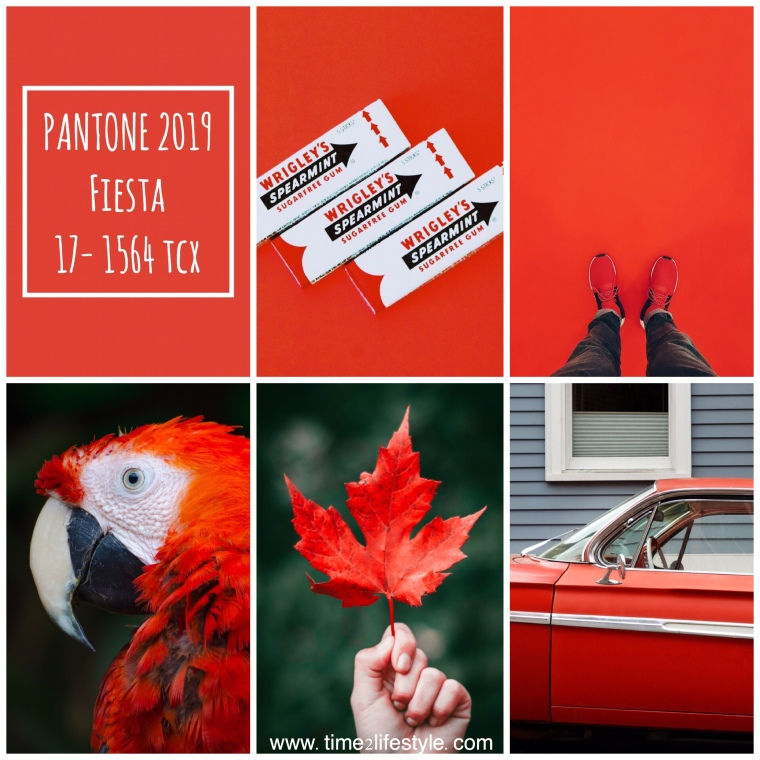 Time2lifestyle Pantone colors 2019 fiesta