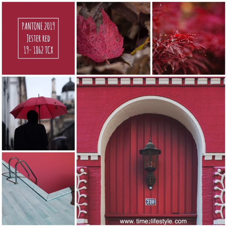 Time2lifestyle Pantone colors 2019 jester red