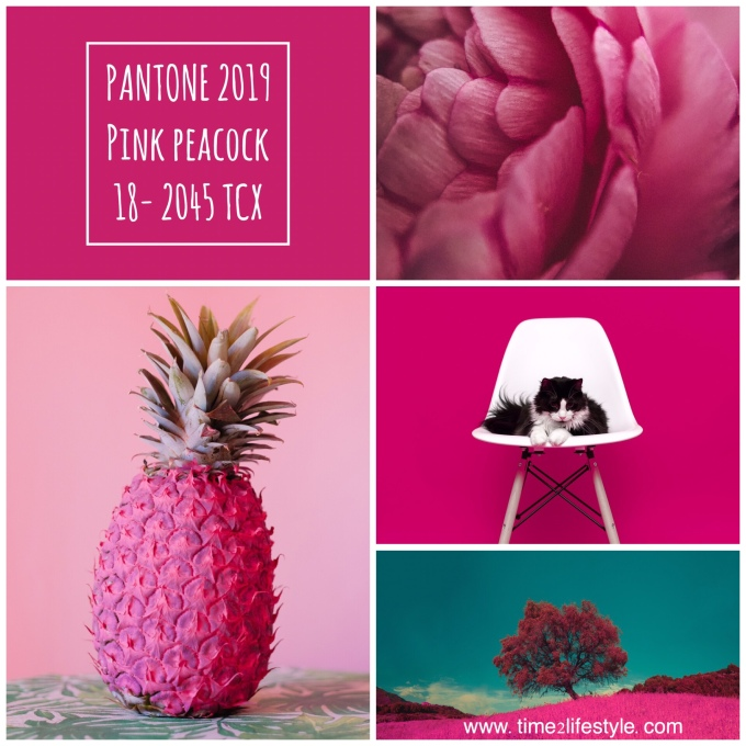 Time2lifestyle Pantone colors 2019 pink peacock