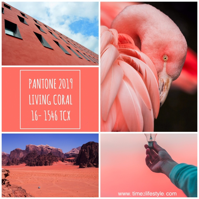 Time2lifestyle Pantone colors 2019 living coral